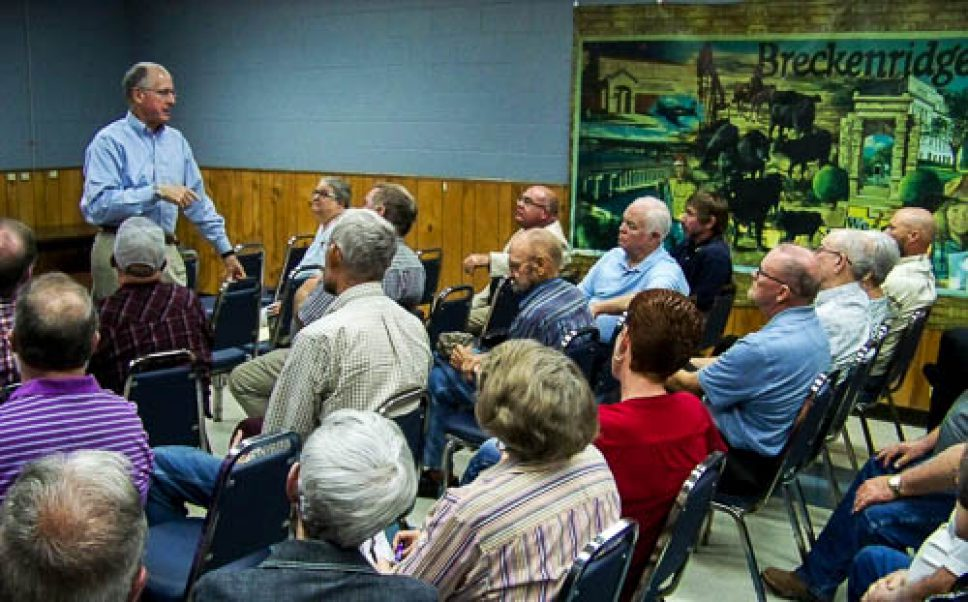 Congressman Michael Conaway fields questions during Breckenridge town-hall meeting