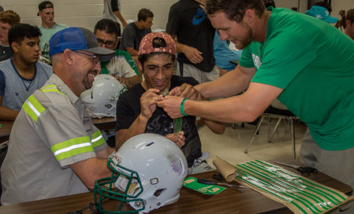 Buckaroos get helmets ready for Friday night