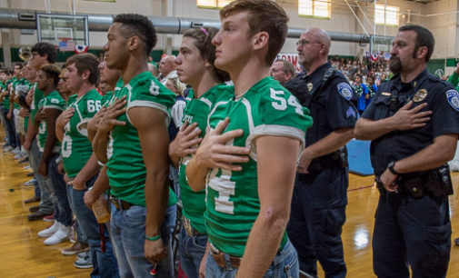 BHS honors first responders at pep rally