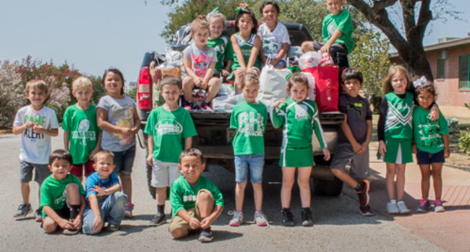 East Elementary students send off donations to Hurricane Harvey victims