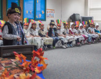 Kindergarten class celebrates Thanksgiving with tradition