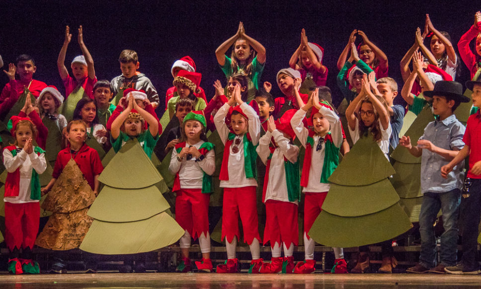 third graders share the spirit of the season with the littlest christmas tree