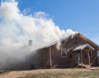 House fire and grass fire keep local firefighters busy