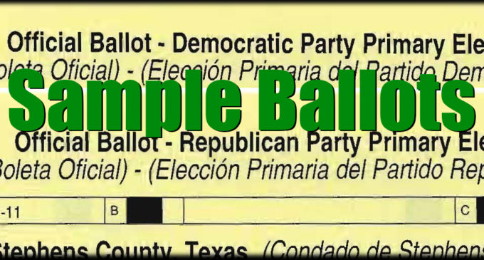 Sample Ballots 2020 Primary Election