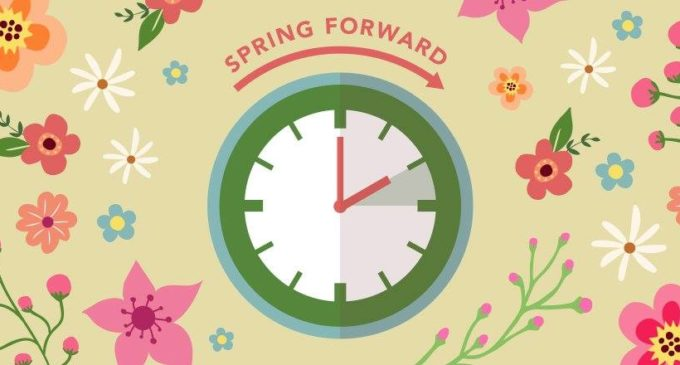 Daylight Saving Time begins today