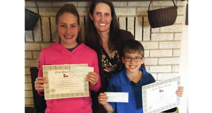 Armstrong siblings win local DRT essay contest
