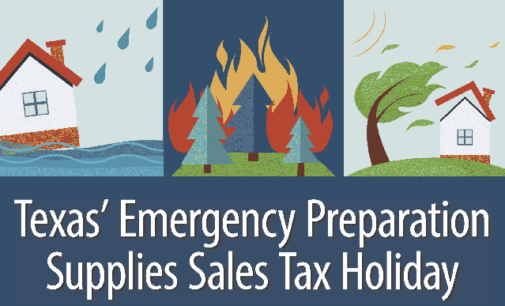 Emergency supplies are tax free this weekend