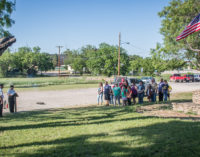 AVR, scouts hold flag retirement ceremony