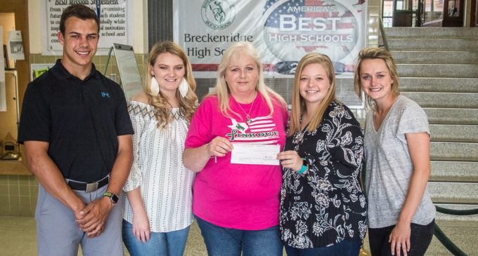 BHS student group makes donation to memorial scholarship