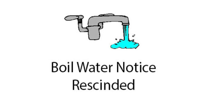 SRSUD rescinds Boil Water Notice