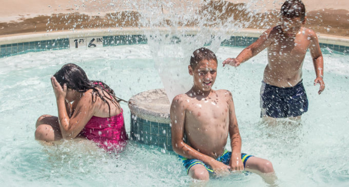 City swimming pool offers escape from the heat