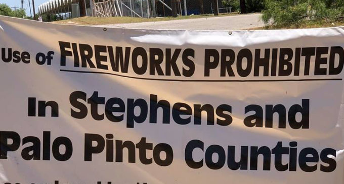 Fireworks banned in Stephens County following disaster declaration