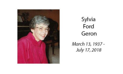 Sylvia Ford Geron