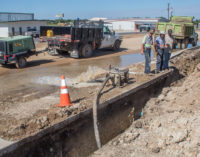 Waterline break leaves some local residents without water