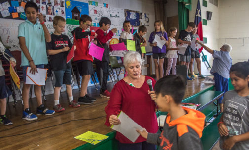 Fifth graders perform play in honor of Constitution Week