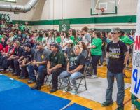 Buckaroo pep rally honors first responders, veterans