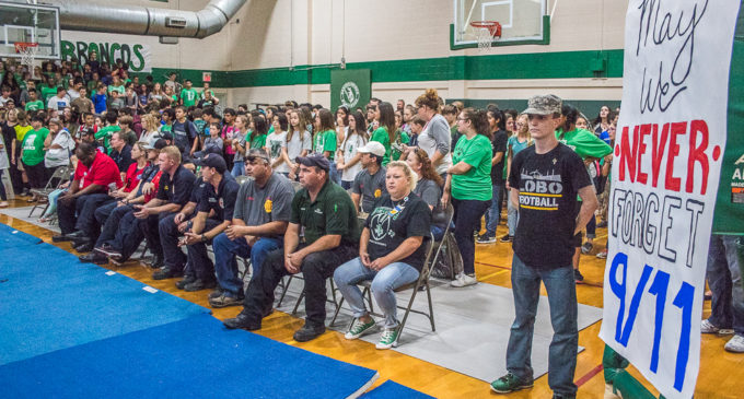 Buckaroo pep rally honors first responders, veterans