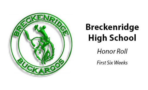 Breckenridge High School announces honor roll