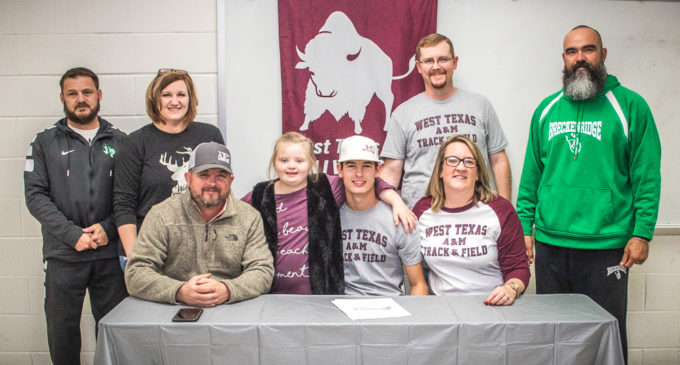Braden Campbell signs letter of intent to attend West Texas A&M