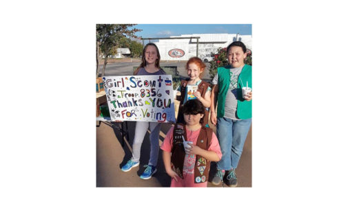 Girl Scouts say 'thanks' to local voters