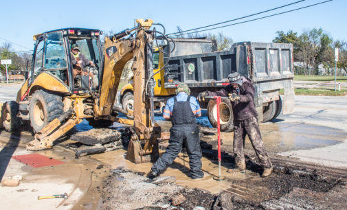 City continues to work on repairing broken water line; second leak occurred Tuesday morning