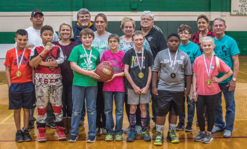 Local kids participate in Elks Hoop Shoot