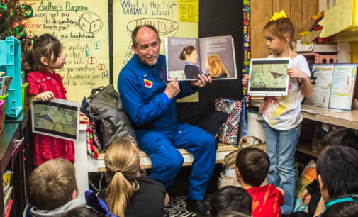 Dyess museum curator introduces true tale of 'Chocolate Pilot' to local second graders
