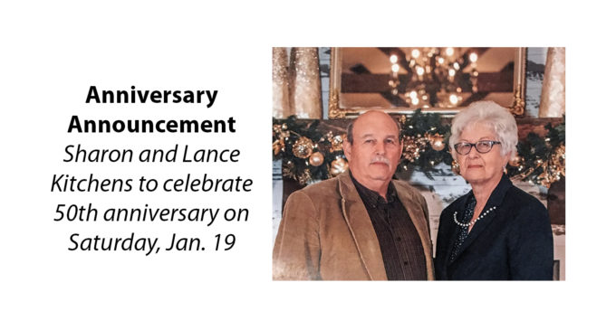 Sharon and Lance Kitchens to celebrate 50th anniversary
