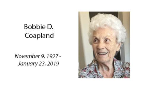 Bobbie D. Coapland