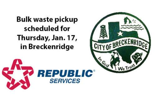 bulk waste pickup – Breckenridge Texan