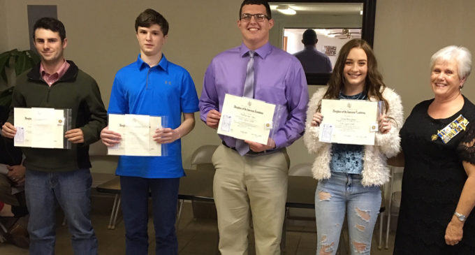 Local DAR chapter honors students with Good Citizens Award