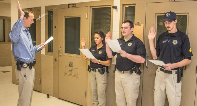 Sheriff swears in newly promoted sergeants on jail staff