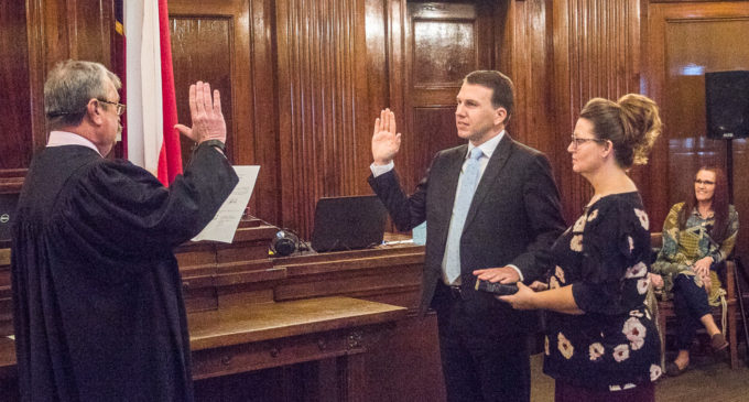 Michael Roach formally sworn in as County Judge