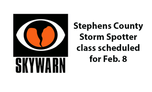 Stephens County Storm Spotter training scheduled for Feb. 8