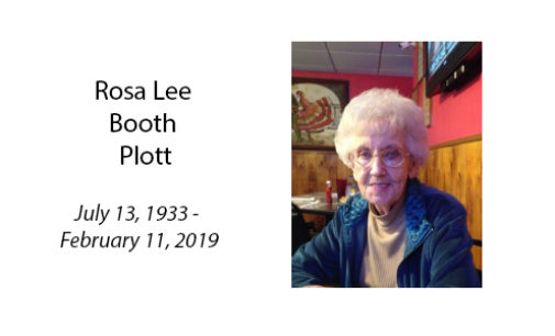 Rosa Lee Booth Plott