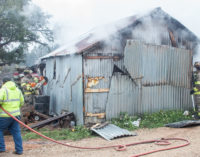 Structure fire in East Breckenridge sends one to hospital