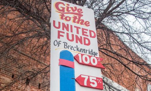 Breckenridge United Fund reaches 90 percent of its goal