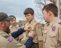 Local Boy Scouts present first award in re-established troop