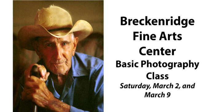 Fine Arts Center to offer basic photography class beginning Saturday, March 2