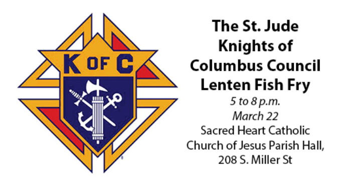 Local Knights of Columbus to host Lenten Fish Fry on March 22
