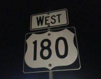 U.S. Highway 180 West reopened Friday evening
