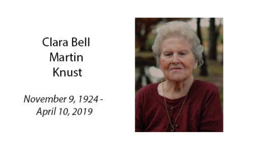 Clara Bell Martin Knust