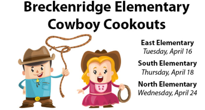 Breckenridge elementary schools to host Cowboy Cookouts
