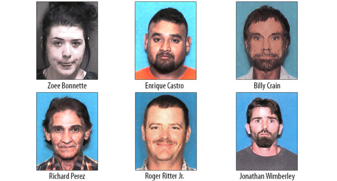 Local law enforcement agencies arrest six on organized criminal activity related to drug dealing
