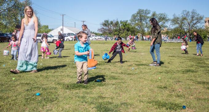 Easter Bunny visits kids at Caddo VFD's annual Easter Egg Hunt