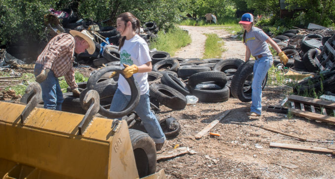 Cleanup project at illegal dump site removes more than 1,000 tires