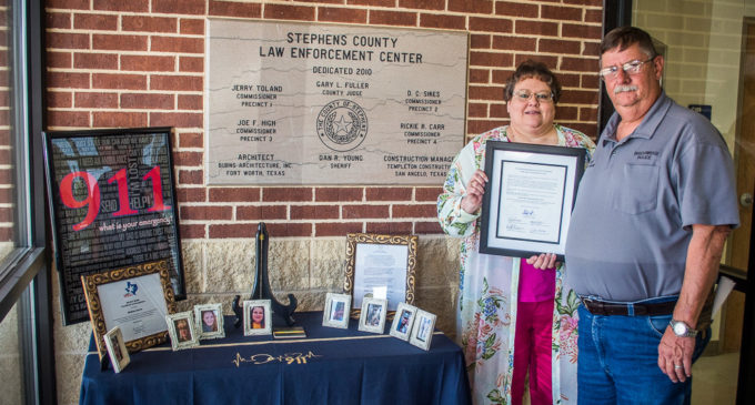 Stephens County Commissioners honor 9-1-1 dispatchers