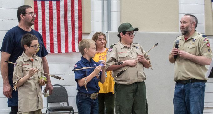 Local Cub Scouts receive awards during Blue and Gold Banquet