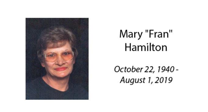 Mary 'Fran' Hamilton