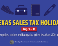 Texas back-to-school sales tax holiday starts today